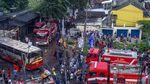 Begini Kondisi Bus Karyawan yang Kecelakaan dan Terbakar di Karawang