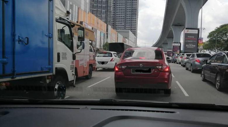 Kondisi jalanan di Malaysia saat lockdown tahap kedua
