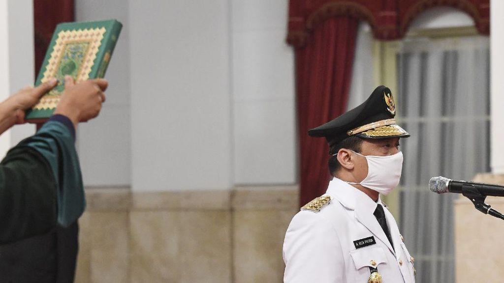 Momen Jokowi Lantik Wagub DKI Jakarta Ditengah Wabah COVID-19
