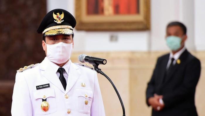 Ahmad Riza Patria saat dilantik sebagai Wakil Gubernur DKI Jakarta