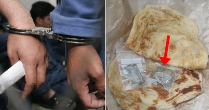 Penyelundupan narkoba pakai roti canai