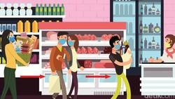Pembatasan sosial yang diterapkan di banyak tempat membuat aktivitas belanja tidak lagi leluasa. Risiko tertular virus Corona harus sangat diwaspadai.