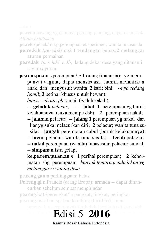 Kaos Ganti Penjelasan Kata 'Perempuan' dalam KBBI.