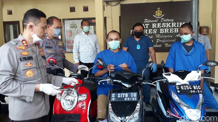Komplotan curanmor lintas provinsi dibekuk warga Brebes