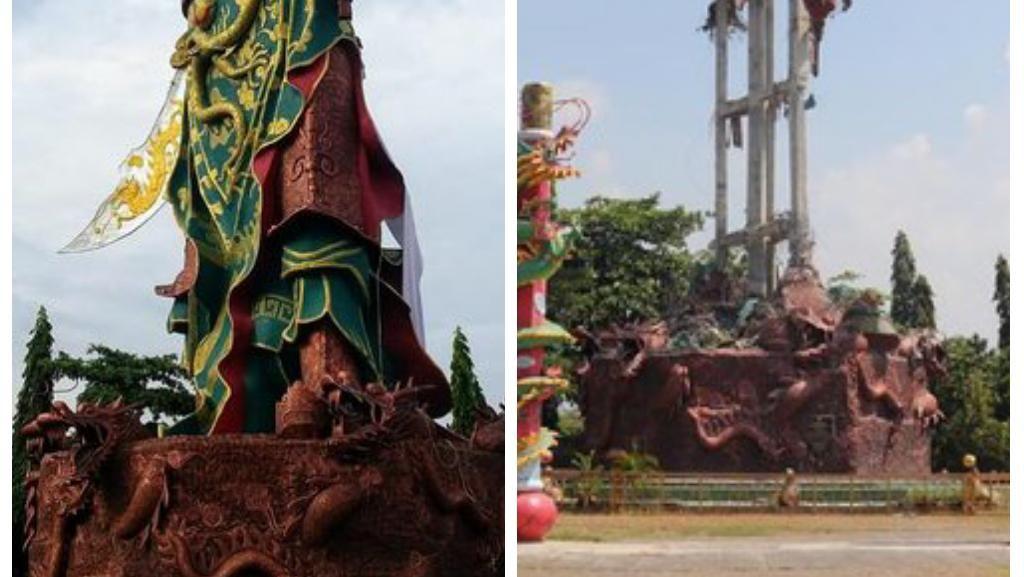 Patung Dewa di Kelenteng Tuban Senilai Rp 1,5 Miliar Runtuh Tanpa Sebab
