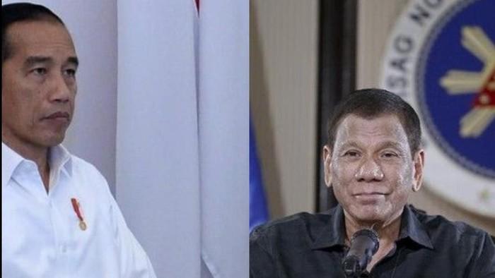 Presiden RI Joko Widodo dan Presiden Filipina Rodrigo Duterte (colase dari sumber foto detikcom dan AP News)