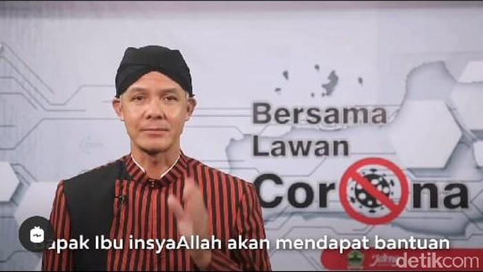 Gubernur Jateng Ganjar Pranowo, Jumat (17/4/2020).