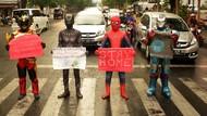 Spiderman hingga Ironman, Kampanye Lawan Corona di Makassar
