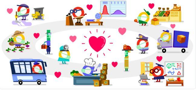 google doodle corona