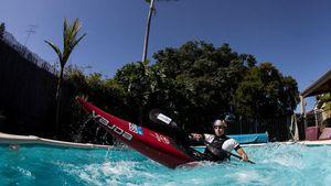 Gegara Corona, Atlet Kano Australia Berlatih di Kolam Renang Pribadi