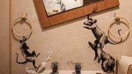 Intip Karya Seniman Lukis Kamar Mandi Saat Karantina di Rumah
