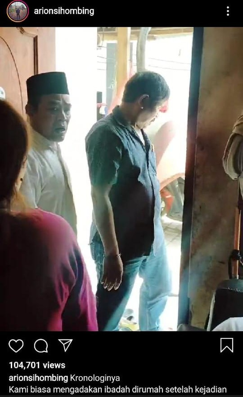 Pembubaran kegiatan ibadah dari rumah di Cikarang, Kabupaten Bekasi