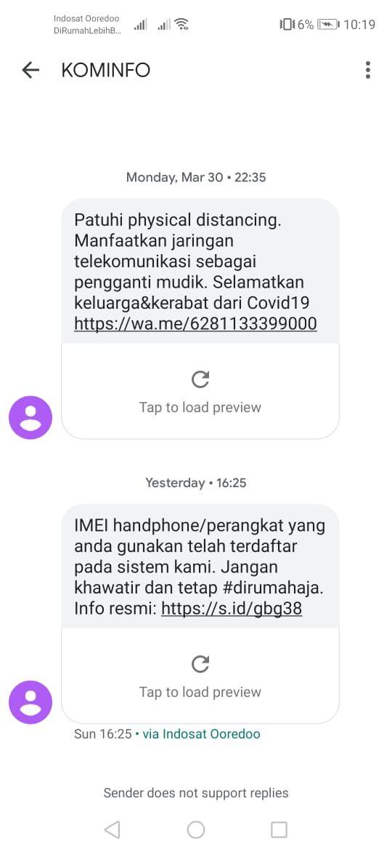 Kalau ini di pelanggan Indosat Ooredoo.