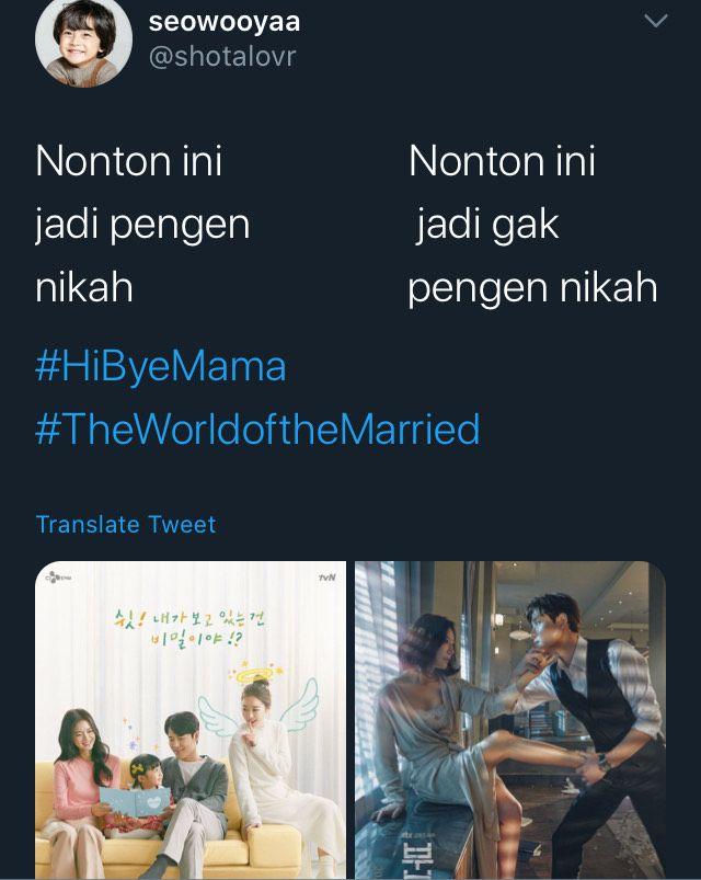 meme drakor Hi Bye, Mama dan The World of The Married