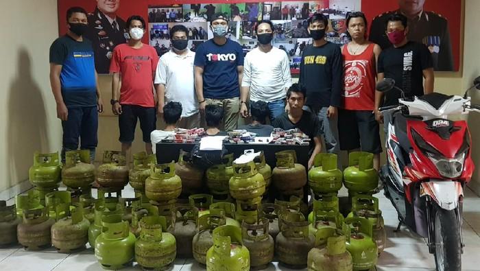 Komplotan pencuri tabung gas 3 kg di Palopo.