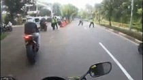 Polisi Setop Kebut-kebutan Motor Sport di Pattimura, Nyaris Diserempet