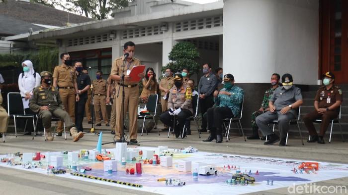 Simulasi PSBB di Balkot Bandung
