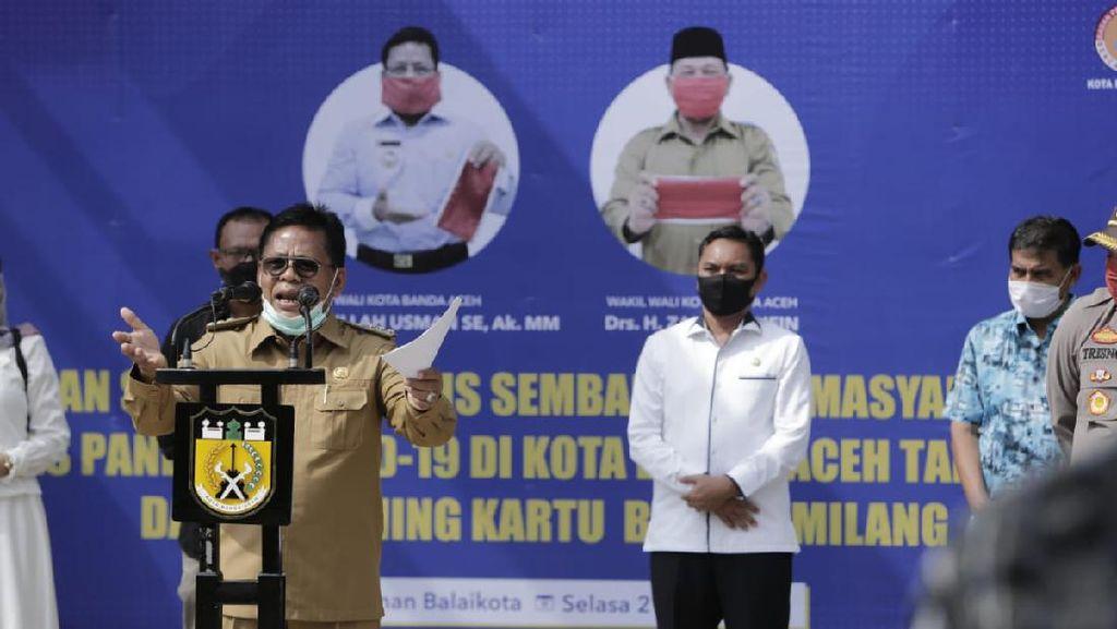 Pemkot Banda Aceh Bagikan 8.500 Sembako Jelang Ramadan