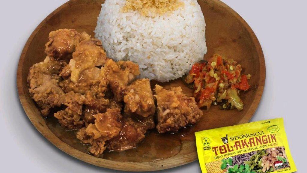 Makin Ngaco! Kini Ada Menu Nasi Ayam Saus Tolak Angin