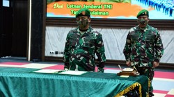Pakai Protokol COVID-19, KSAD Lantik Wakasad Mayjen Fachrudin