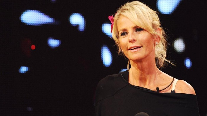 BOREHAMWOOD, ENGLAND - SEPTEMBER 10:  Ulrika Jonsson is evicted from the Big Brother house during the final of Ultimate Big Brother on September 10, 2010 in Borehamwood, England.  (Photo by Ian Gavan/Getty Images)