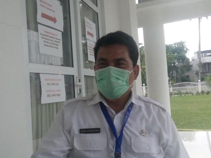 Ketua II Bidang Operasi Gugus Tugas COVID-19 Sumut, Alwi Mujahit Hasibuan (Ahmad Arfah-detikcom)