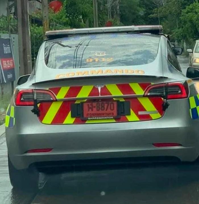 Tesla Model 3 jadi mobil polisi di Thailand