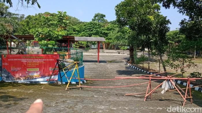 Umbul Cokro di Klaten yang ditutup