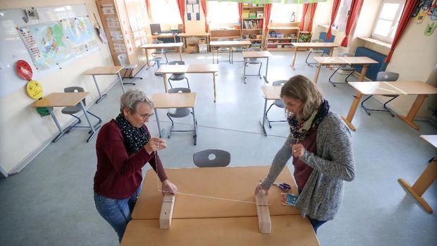 Jerman mulai melonggarkan aturan lockdown, sejumlah sekolah dasar akan mulai dibuka kembali. Sekolah-sekolah ini mulai mempersiapkan diri.