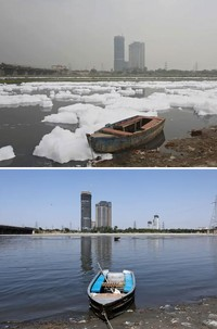 polusi sebelum dan sesudah lockdown