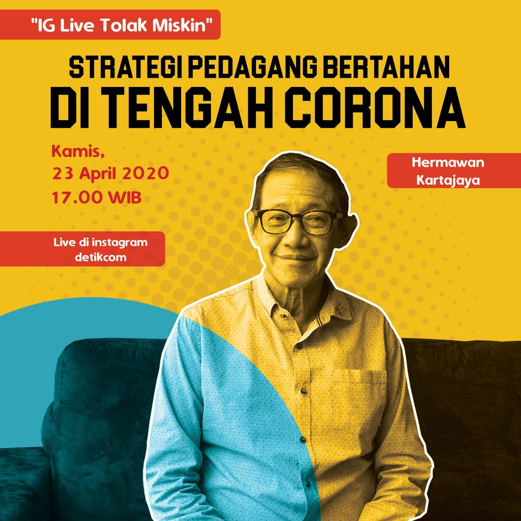 Live IG detikcom Hermawan Kartajaya