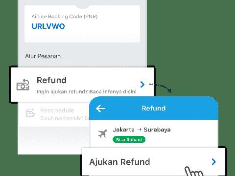 Refund Tiket Pesawat di Traveloka