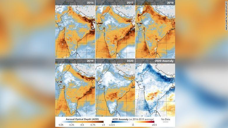 Polusi di India oleh NASA