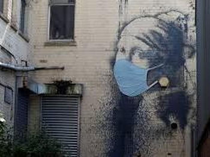 Mural Banksy di Tengah Pandemi Corona