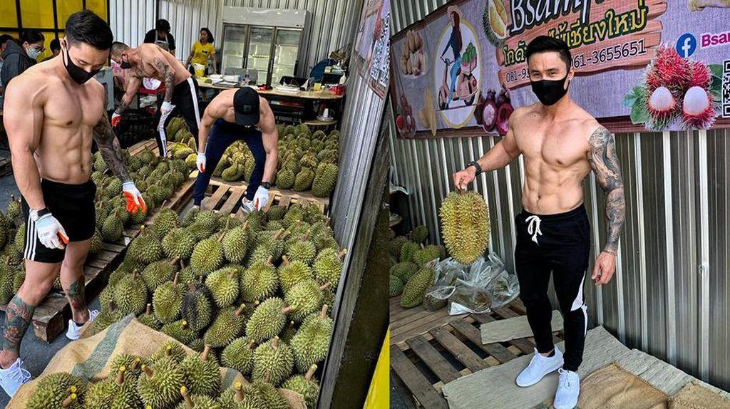 Penuh Pria Tampan, Toko Durian di Thailand Ini Laris Manis
