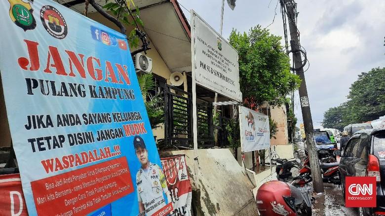 Hari Pertama Larangan Mudik, Pos Pengamanan Baru Dibangun di Tangerang