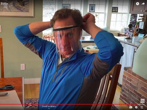 cara membuat face shield
