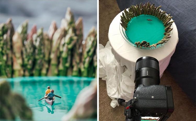 Saat karantina di rumah akibat COVID-19, fotografer ini menciptakan pemandangan alam yang menakjubkan menggunakan hal-hal yang dia temukan di sekitar rumahnya.