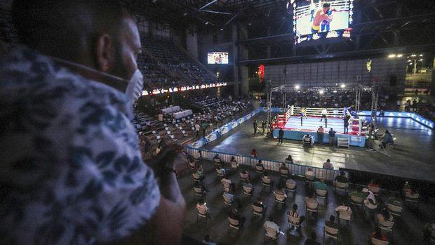 Pertarungan tinju digelar di Nikaragua pada Sabtu malam.