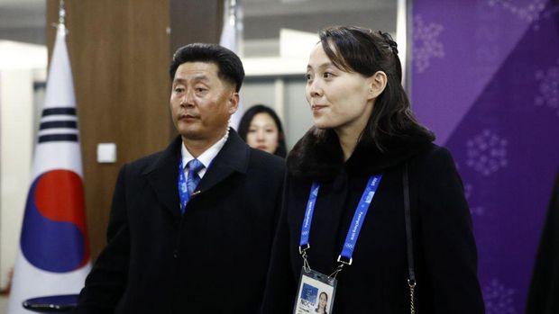 Kim Yo Jong hadir di upacara pembukaan PyeongChang 2018 Winter Olympic Games pada 9 Februari 2018 in Pyeongchang-gun, Korea Selatan.