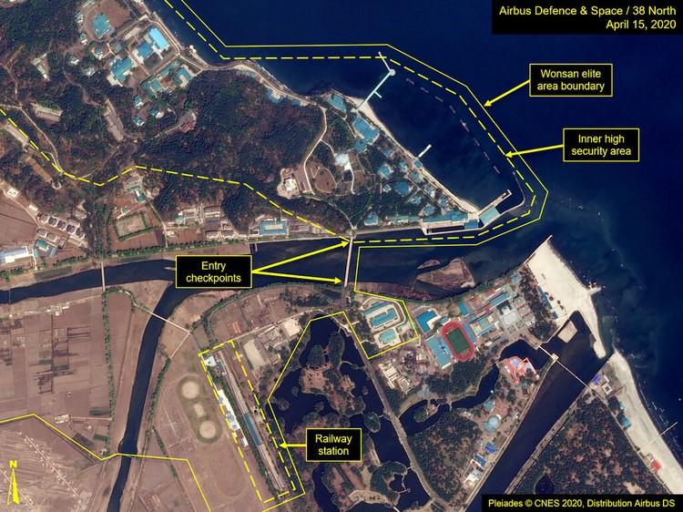 Kabar Kim Jong Un tutup usia ramai di masyarakat. Namun, satelit Amerika menangkap citra kereta yang diyakini milik pemimpin Korut itu parkir di Kota Wonsan.