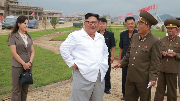 Kim Jong Un di Wonsan