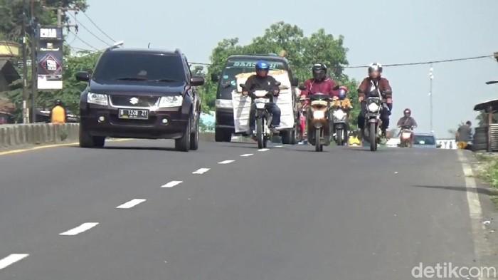 Suasana jalur Pantura Subang