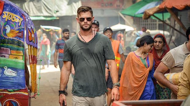Chris Hemsworth dalam 'Extraction'