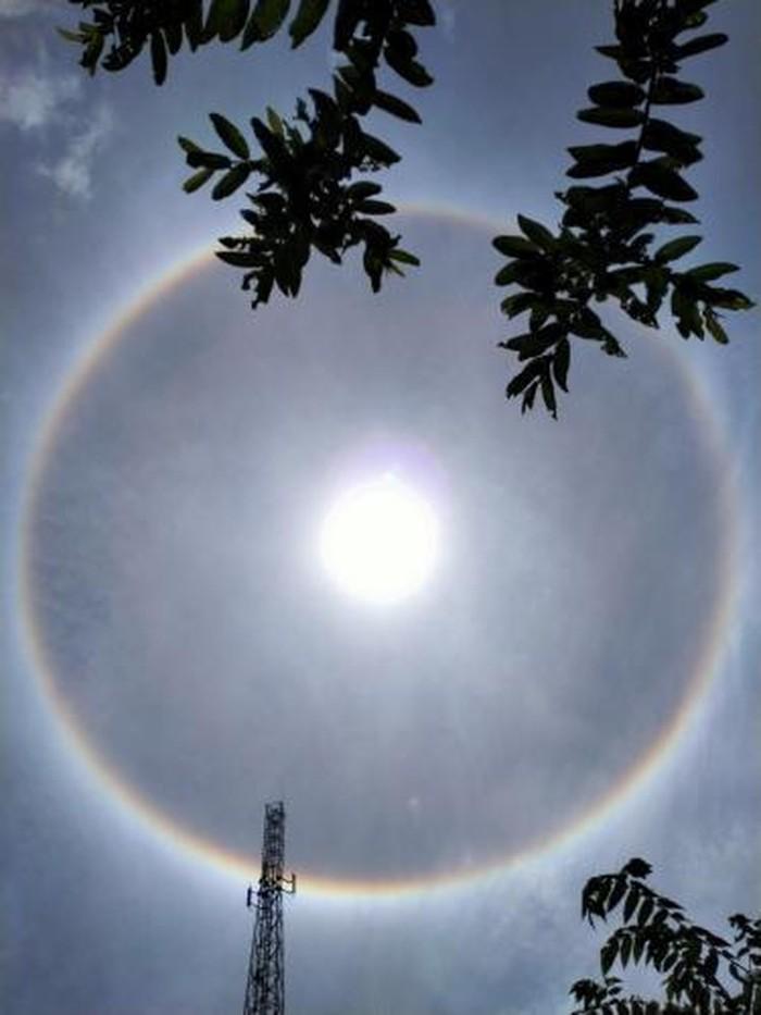 Warga di Bulukumba sempat menyaksikan fenomena matahari memiliki cincin (Dok. Andi Afifah)