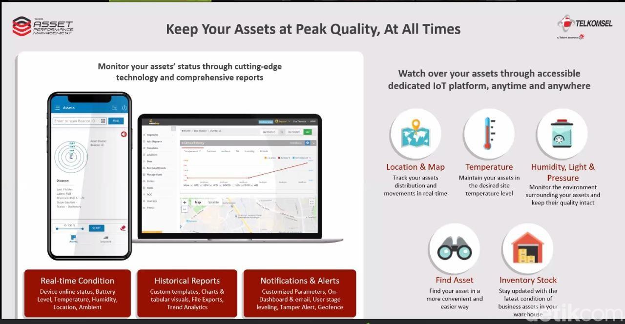 Solusi IoT terbaru Telkomsel Asset Performance Management
