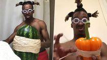 Hobi Pecahkan Telur dan Semangka Pakai Karet Gelang, Pria Ini Jadi Viral