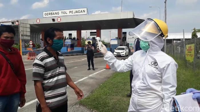 Suasana pos pantau Kabupaten Brebes, Senin (27/4/2020).