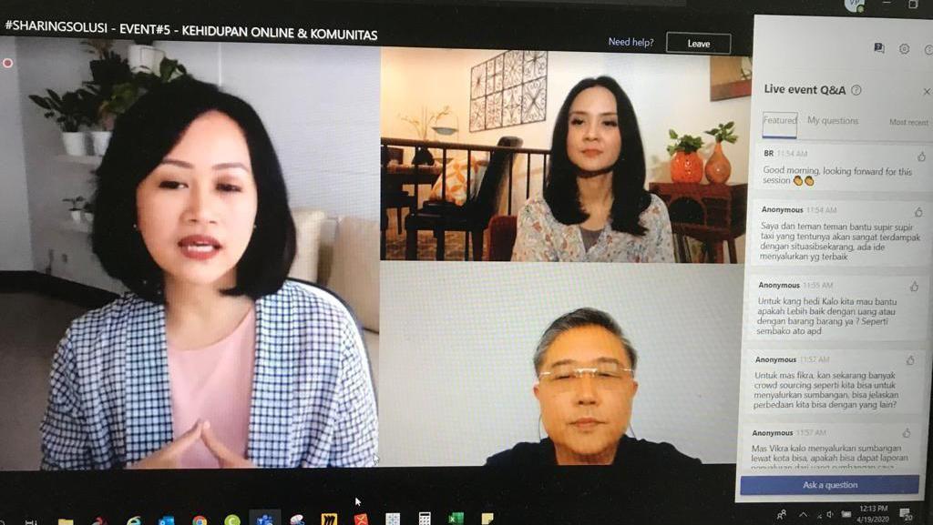 Ketika Tokoh-Selebriti Berbagi Solusi dan Donasi Kolektif untuk Indonesia