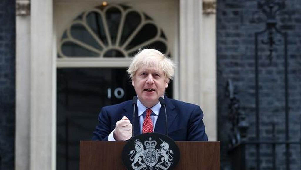 Momen Perdana PM Inggris Usai Sembuh dari Corona